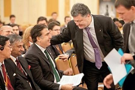 Саакашвили научит Порошенко жевать галстук