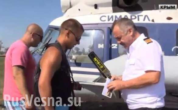 Переправиться в Крым через Керченский пролив теперь можно на вертолете (ВИДЕО)