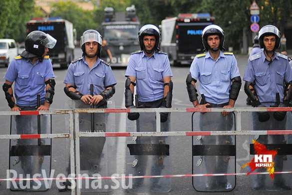 Ереванская полиция: у митингующих есть взрывчатые вещества ( ВИДЕО)