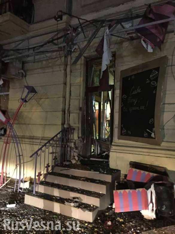 В центре Одессы подорвали кафе (ФОТО)