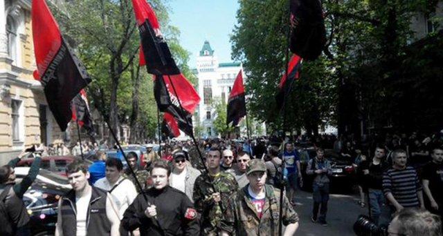 Фашистский митинг в центре Киева