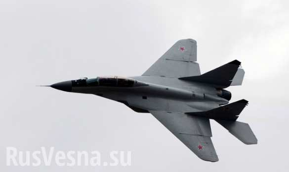 Самолет ВВС России МиГ-29 потерпел крушение на Кубани