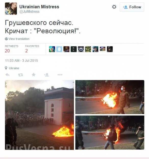 Участники нацистского шествия в Киеве подожгли шины возле стадиона Динамо (ФОТО, ВИДЕО) | Русская весна