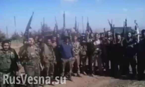 Воины сирийской армии взяли штурмом укрепрайон террористов в Телль Хадар (ВИДЕО, перевод)