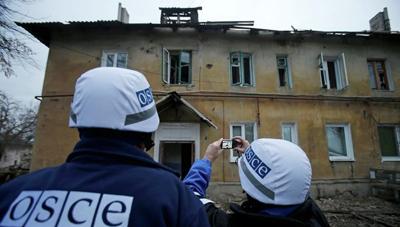 Миссия ОБСЕ развернула базы наблюдателей в Горловке и Дебальцево