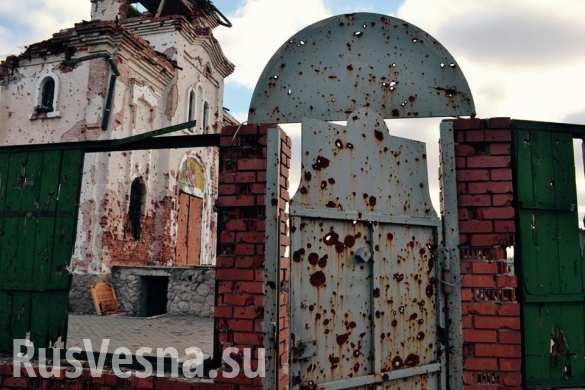 Cтрашные разрушения Иверского монастыря под Донецком: обстрелянный храм, разоренное кладбище (ФОТОЛЕНТА)