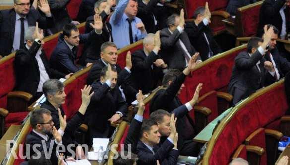 Рада подготовила проект обращения к Западу о санкциях против России
