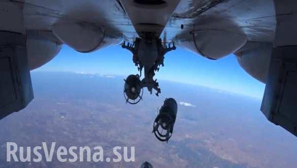 ВКС РФ уничтожили базы террористов ИГИЛ в провинциях Хомс и Идлиб