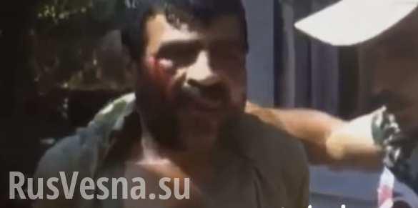 Пленный террорист в руках сирийского спецназа приветствует Президента Асада (ВИДЕО)