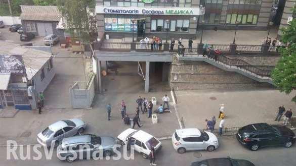В центре Киева со стрельбой задержали бандитов с гранатой (ФОТО)