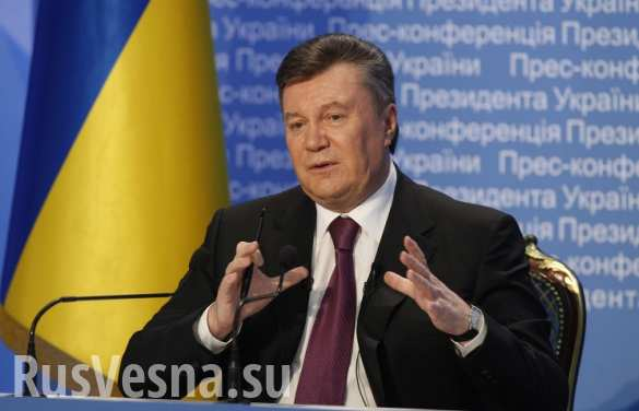 Янукович озвучил свою версию событий на Майдане (ВИДЕО)