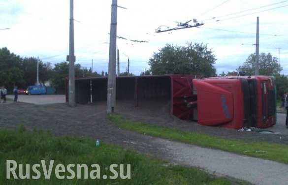 На Украине пьяный водитель фуры «засеял» обочину 30 тоннами семян подсолнуха (ФОТО, ВИДЕО)