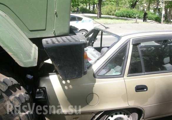 В Николаеве военный грузовик протаранил школьный автобус (ВИДЕО, ФОТО) | Русская весна