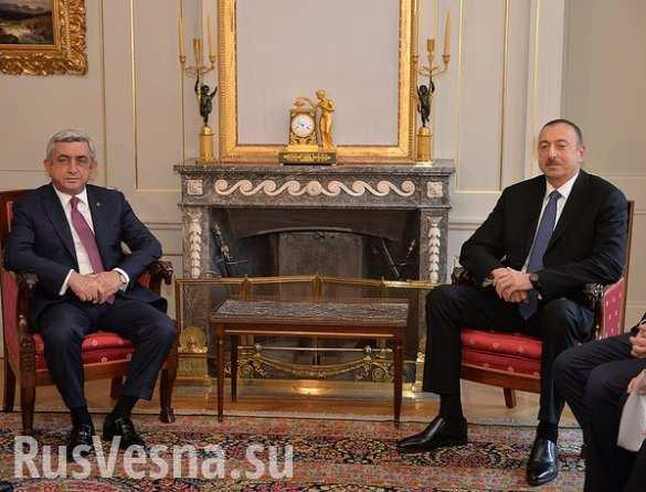Президенты Армении и Азербайджана встретились впервые после обострения конфликта в Карабахе