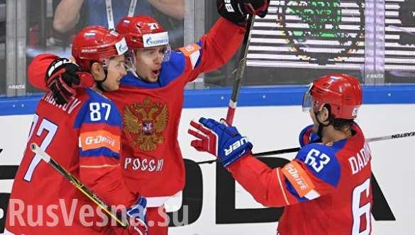 Российские хоккеисты победили шведов на чемпионате мира