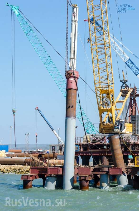 Строители приступили к сооружению опор в акватории Крымского моста (ФОТО)   Русская весна