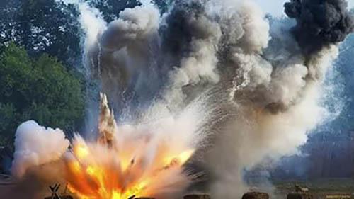 Взрыв на дороге под Сватово