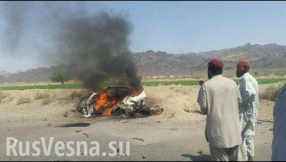 Опубликованы первые снимки с места уничтожения лидера «Талибан» (ФОТО)