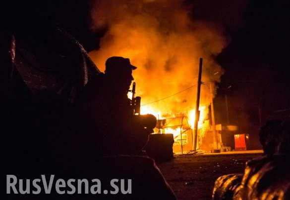 ВСУ вечером открыли огонь по прифронтовым районам ДНР